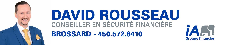 David Rousseau Conseiller en sécurité financière Industrielle Alliance