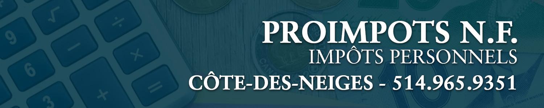 Proimpots N.F.- Impots personnels