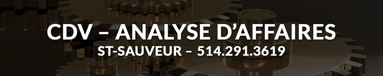 CDV-Analyste d'affaires - Tenue de livre St-Sauveur